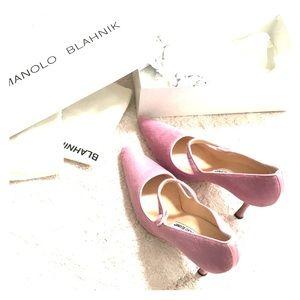 Gorgeous Manolo Blahnik dusty rose shoes